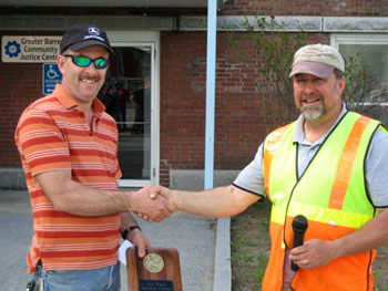 Tony Long takes 2nd place in backhoe competition at the VMHA Field Day 2011.